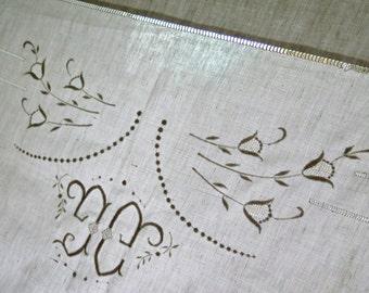 Linen bed sheet - Drap de Lin - Feuilles de mariage