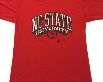 Vintage NC State Wolfpack T-shirt ACC North Carolina NCAA 1989