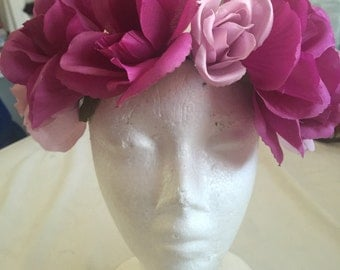 Purple and Lilac Flower Headbands/ Flower Crown