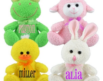 Personalized Easter Plush Animals