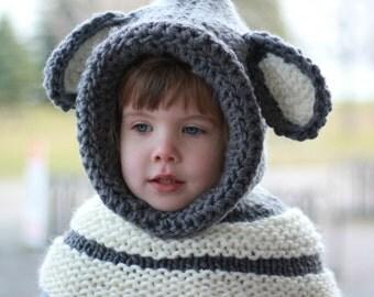 Dog Cowl Knitting Pattern : Dog hooded cowl Etsy