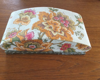 French vintage fabric covered chocolate/boudoir box