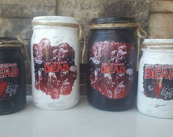 Set of 4 Walking Dead Decorative Jars