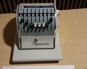 Vintage 1960's Paymaster X-2000 - 8 column Check Writer.