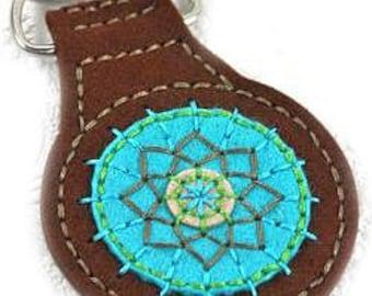 Felt Keychain, Handmade Keychain, Felt Key Ring, Handmade Key Ring, Medallion Keychain