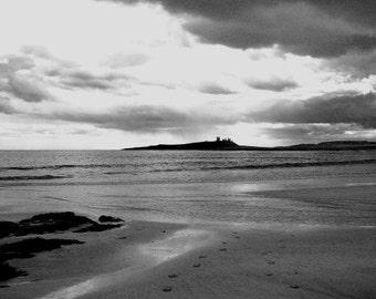 Black and White Photography: Dunstanburgh Castle Black and White Photographic Print