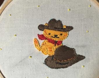 Neko Atsume's Billy the Kitten embroidery