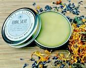Herbal Salve with Comfrey, Yarrow, Plantain, and Calendula