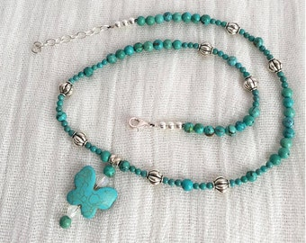 Turquoise Butterfly Necklace