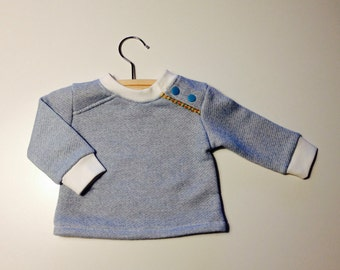 Baby longsleeve of soft french terry-size 62