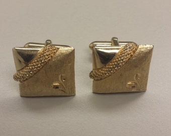 Vintage Gold-Tone Cuff Links
