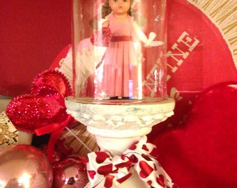 Vintage Valentine under Glass