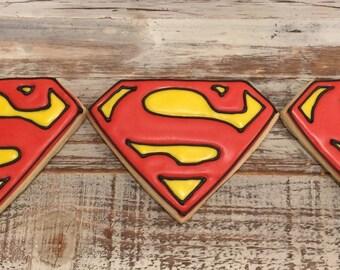 Superman Logo Cookies (1 dozen)