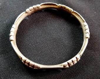 Superb silver bracelet South of Morocco gates of the Sahara - Mauritania