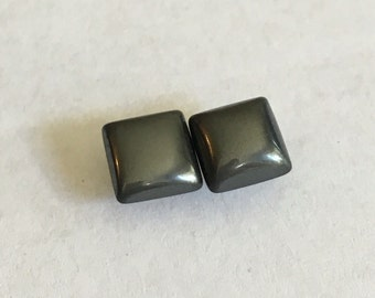 Square Hematite Stone Earrings