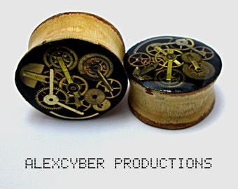 Steampunk wood plugs