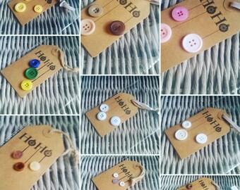 HOHO Button gift tags