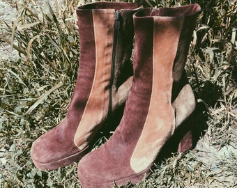 Mod Sixties Suede Boots