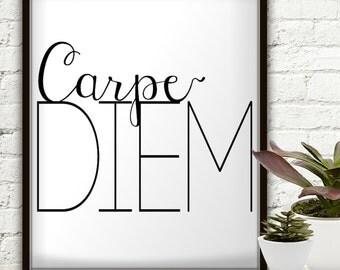 Carpe Diem, Carpe Noctem, Carpe Diem Planner, Carpe Diem Print, Carpe Diem Poster, Carpe Diem Printable, Carpe Diem Wall Art, Carpe Diem Art