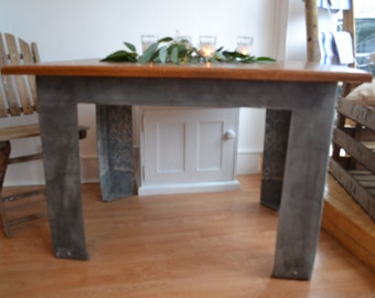 Dining Table -Reclaimed Wood and Watertank