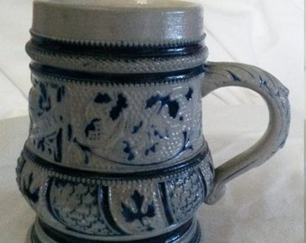 Ceramic blue grey stein