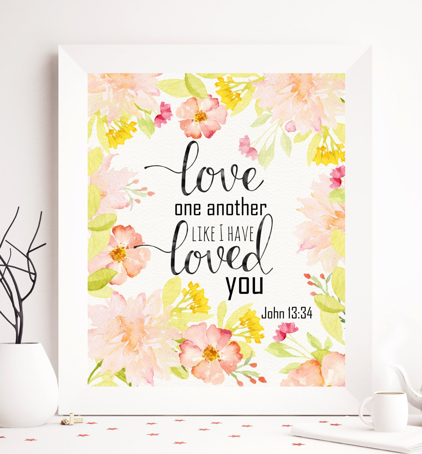 Love One Another: Love One Another As I Have Loved You Printable John 13:34