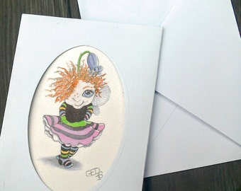 Fairy greetings card cute Fairy fantasy art, Just for You