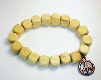 Peace & love block Bracelet