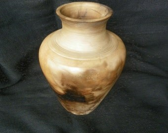 Large Smoke Fired Pottery Vase
