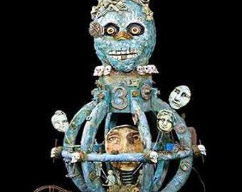 Mictlantecuhtli- Aztec god of the Dead/Underworld  Mixed Media/Assemblage Art