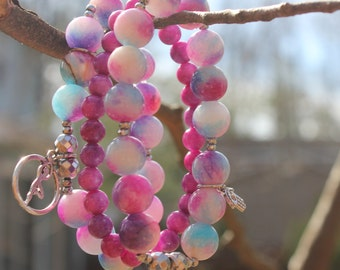 Cotton candy jade Yoga bracelet