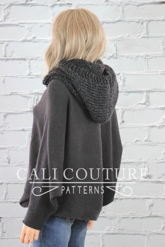 Hooded Infinity Scarf Knitting Pattern : Montreal Hooded Scarf Pattern #32 - Knit Hooded Infinity Scarf Pattern - Knit...