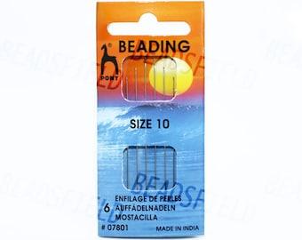 Beading needles size 10 or size 12 (6 pcs / sheet)