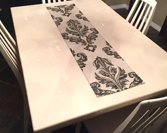 Bailey Table Runner - home decor, oatmeal, black