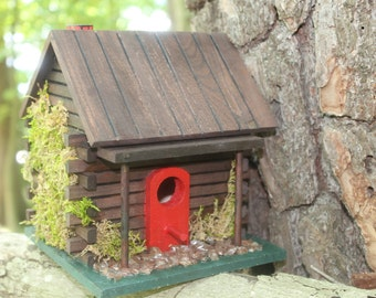 Little House on the Canary Cabin Birdhouse - FREE shipping!