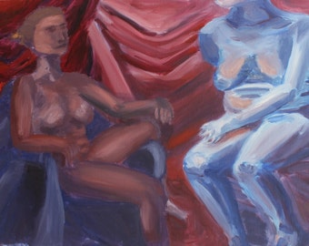 Figures, Oil Painting