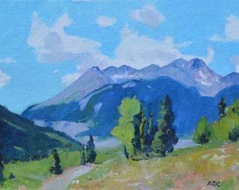 landscape oil painting western art Silverton Colorado Rocky Mountain american impressionism