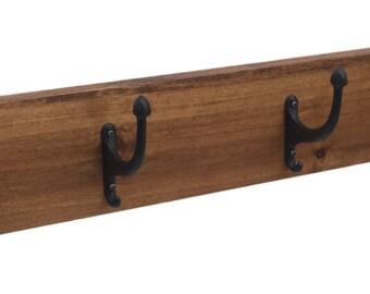 Rustic Coat Rack Hat Rack in Solid Hardwood by Ideastohome.com