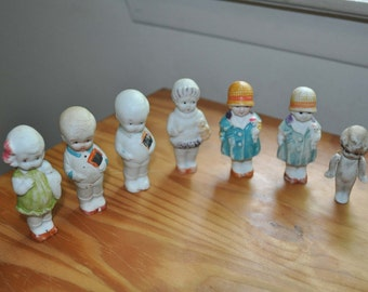 Miniature Porcelain Bisque Dolls made in Japan