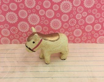 Miniature Ceramic Horse Figurine