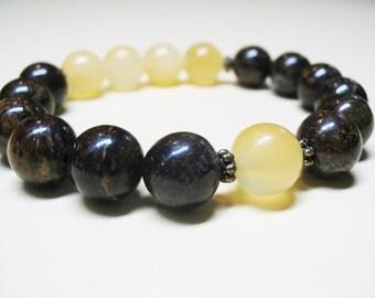 Bronzite Bracelet Yellow Calcite Bracelet Energy Bracelet Healing Bracelet Power Bracelet Chakra Bracelet Protection Bracelet Spiritual