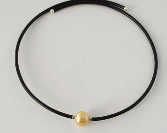 South Sea Golden Pearl and Akoya Pearl Choker Necklace