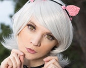 Baroque Pastel Goth Cat Ears with Flowers
