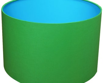 Lamp Shade, Blue, Green, Home Decor, Bright, Modern Lamp Shade, Lighting, Shade, Light, Blue & Green, Bold