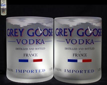 Set of 2 Grey Goose Premium Rocks Glasses, Grey Goose Glass, Vodka Glass, Cocktail Glass, Anniversary Gift, Housewarming Gift, Father's Day