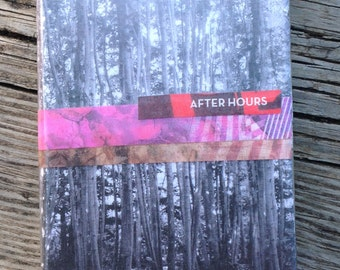 """Original A6 notebook. Analog collage """"After Hours"""". Hand cut collage notebook cover"""