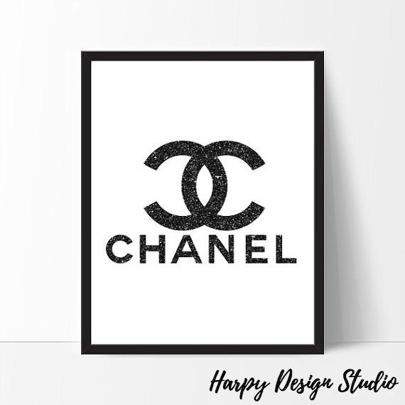 Lively image with free printable chanel logo