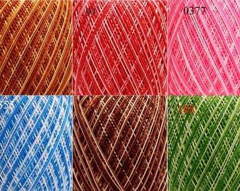 Melange cotton yarn for knitting, lace yarn, yarn for crochet, cotton yarn, mercerized cotton, melange yarn, Violet Melange, yarn for sale