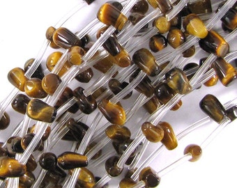 "8mm tiger eye teardrop beads 16"" strand 10462"
