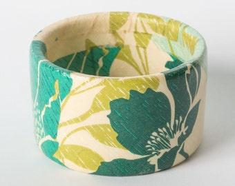 Decoupage wooden bracelet